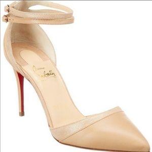 Louboutin double cross uptown heels Sz37.5